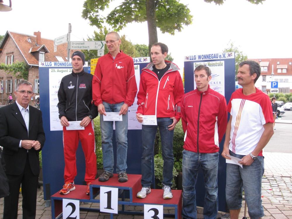 Sven Perleth (2.), Stefan Hinze (1.), Bejamin Pukalla (3.), Marko Becker (4.), Thomas Dehaut (5.)